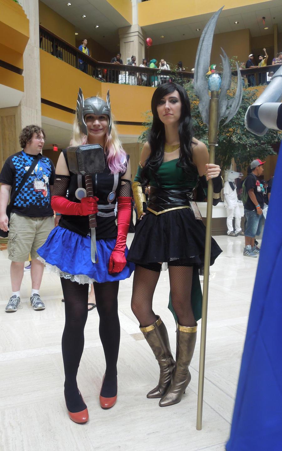 Fem!Thor and Fem!Loki by Anatyla