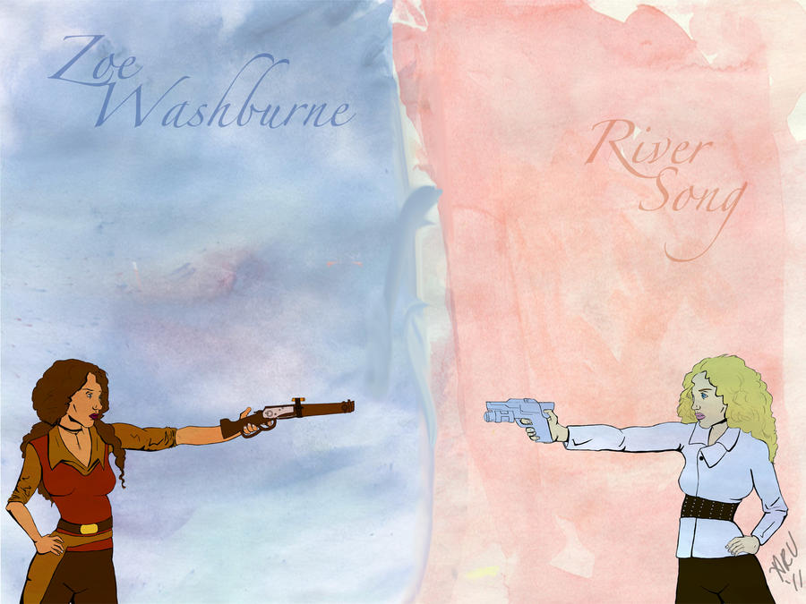 River Song vs. Zoe Washburne by perfectlypunky
