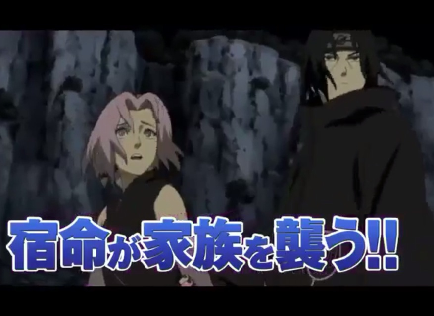 Itachi And Sakura Road To Ninja Itachi holding Sakura s arm in