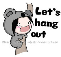 T-Shirt Design-Let's hang out by Rimfrost