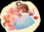 Anninktober / Day 2 / Cuddle by sekikuo