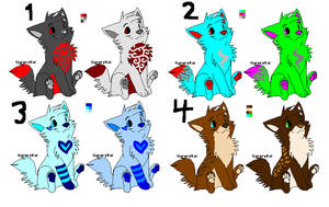 Adopt Wolf Twins OPEN by Creatures-4-adoption