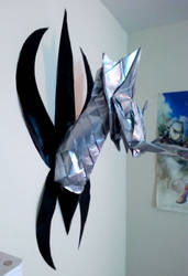 origami dragon head by Nummonkee