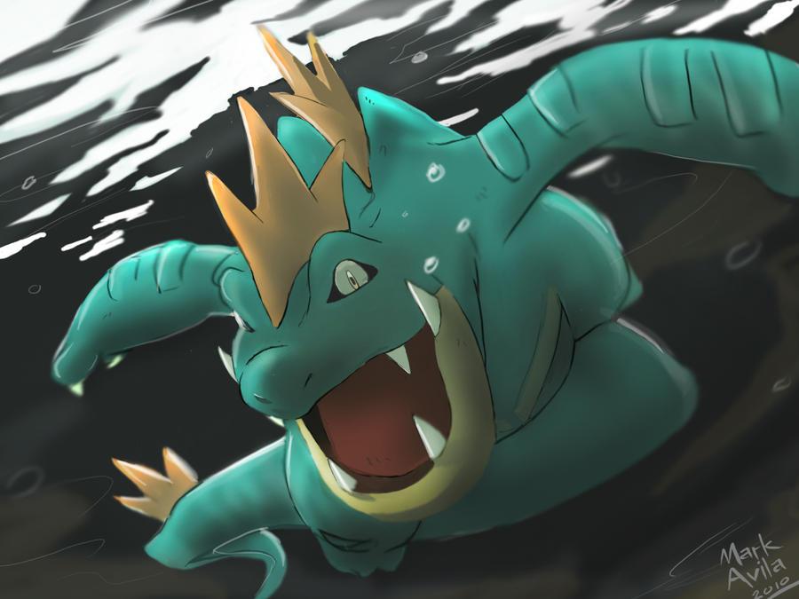 Pokemon  Feraligatr by mark331Shiny Feraligatr Card