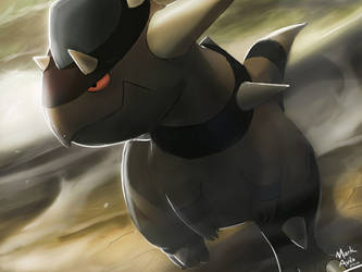 Pokemon: Rampardos by mark331