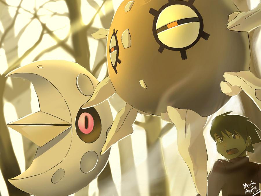 Pokemon: Lunatone and Solrock