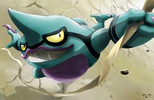Pokemon: Shiny Toxicroak by mark331