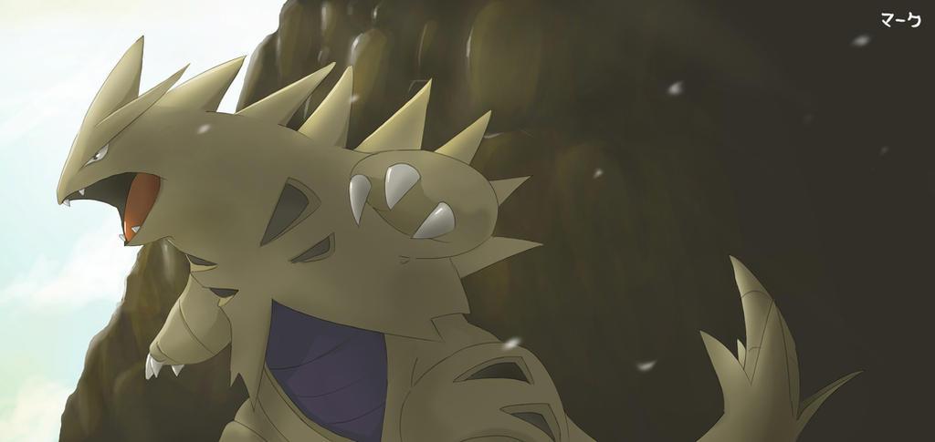 pokemon shiny tyranitar by mark331