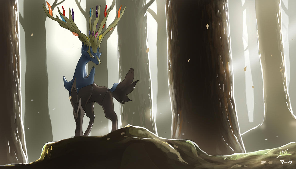 Pokemon Xerneas by mark331 Xerneas Desktop Wallpaper