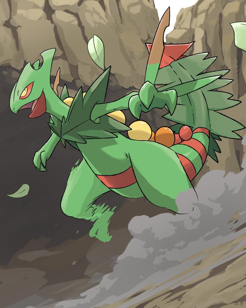 Pokemon: Mega Sceptile by mark331