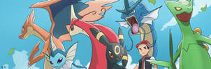 COMMISSION: Aaron Pokemon Team