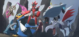 COMMISSION:  Reiji's PokemonTeam