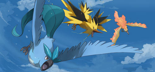 Legendary Bird Trio by mark331