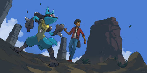 Shadix and Lucario by mark331