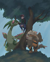 With Arcanine and Flygon