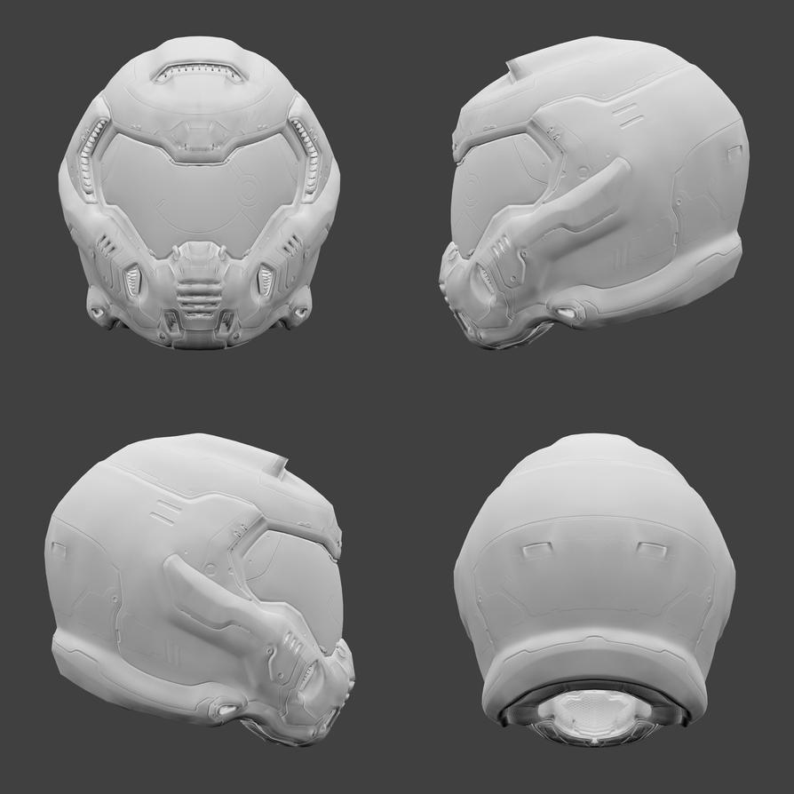 DOOM - Praetor Helmet by DanVishaykuArts