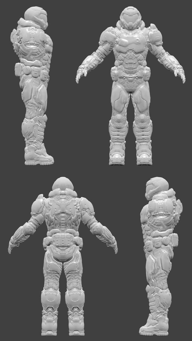 DOOM - Praetor Suit by DanVishaykuArts