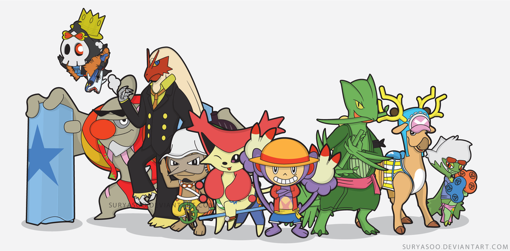 one piece x pokemon new world by suryasoo on deviantart