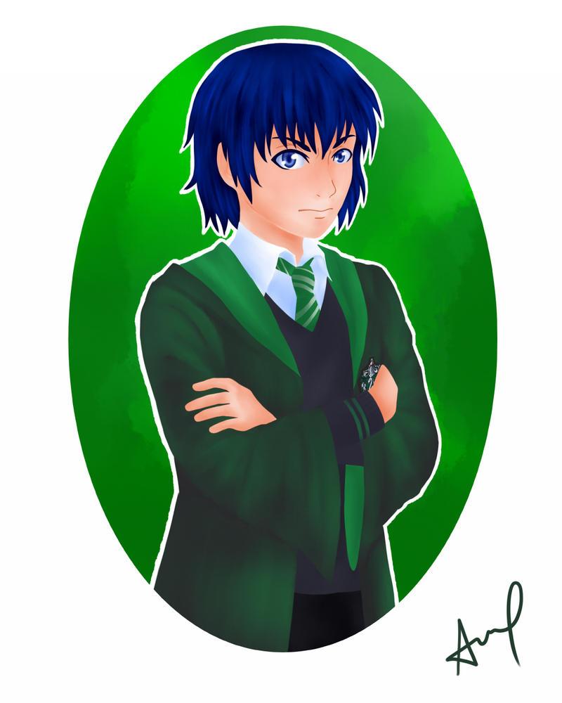 Hogwarts AU: Kirishima Ayato by kuroikoumori