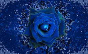 Blue Rose Garden Wallpaper by silverperfume