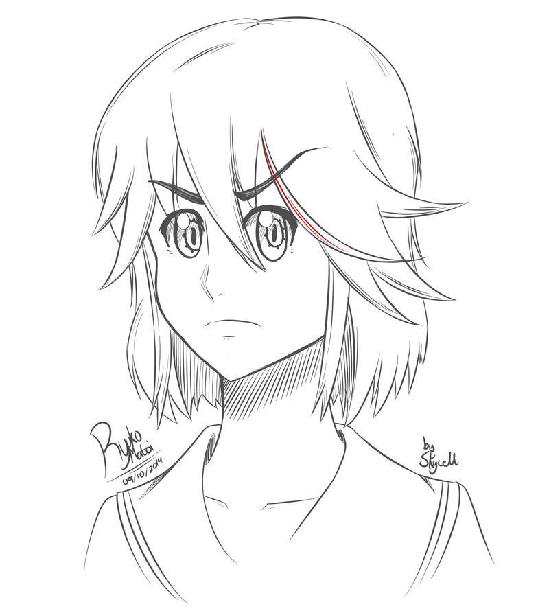 Quick Sketch - Ryuko Matoi by Skycells