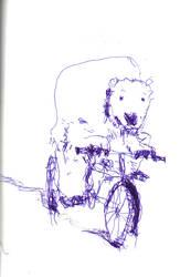 Polar Bear on Bicycle by elpajo
