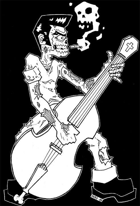 Rockabilly Zombie Wallpaper Rockabilly Zombie - B ...
