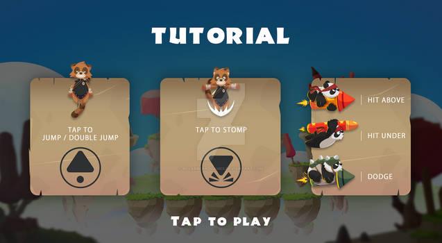TanooJump - new tutorial screen design