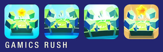 Gamics Rush - set of icons for the new version