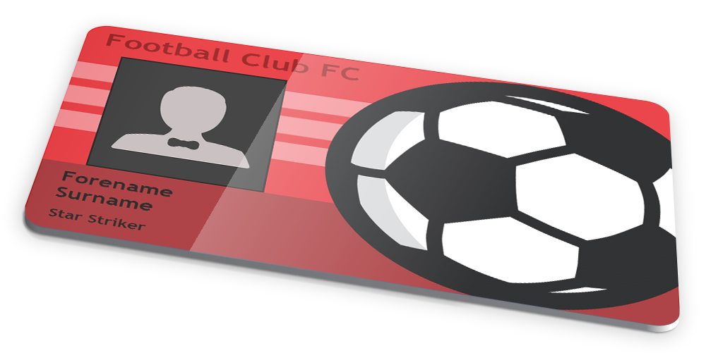 NOVELTY FOOTBALLSOCCER CLUB ID CARD DESIGN by IDCardExperts on