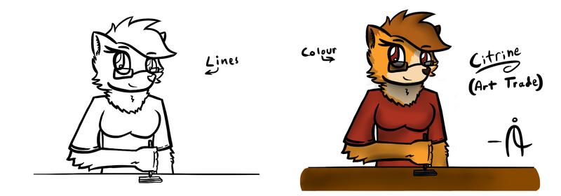 Citrine. (Art Trade) (Lines + Colour)