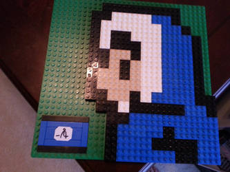 An Ice Climber made out of Lego bricks by TheAliami