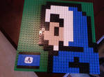An Ice Climber made out of Lego bricks