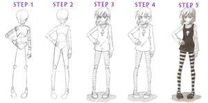 Basic full-body Girl tutorial by red-jello04