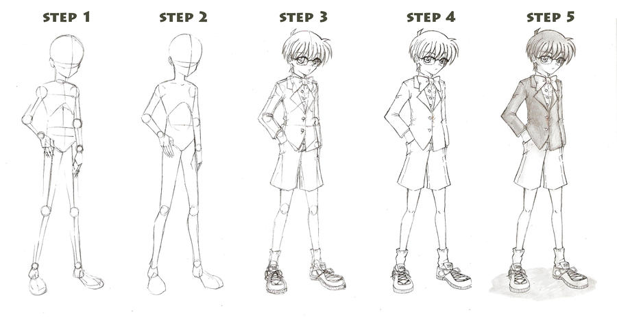 Easy Base Boys Anime Drawing Tutorial