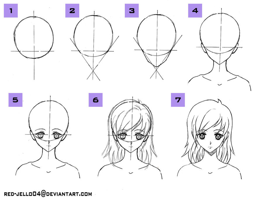 How To Draw Head Tutorial By Red-jello04 On DeviantArt