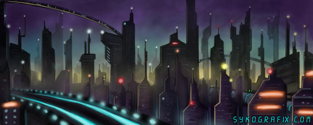 Sci Fi City by ninjatron