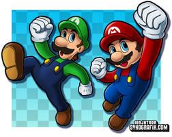Luigi and Mario by ninjatron