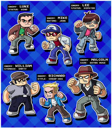 Scott Pilgrim Bad Guys by ninjatron