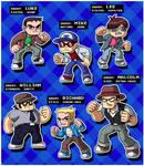Scott Pilgrim Bad Guys by ninjatron