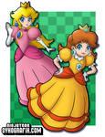 Peach and Daisy