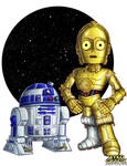 C3P0 and R2D2 by ninjatron