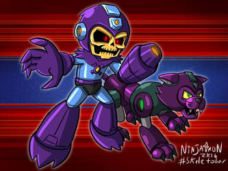 Skeletober #20 - Mega Skel and Panthrush by ninjatron