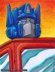 Optimus Prime Painting by ninjatron