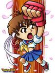 SD Street Fighter Sakura by ninjatron