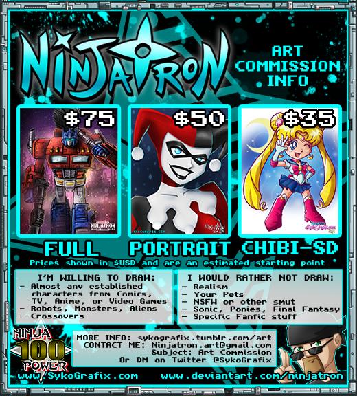 Ninjatron's Art Commission Info - Updated
