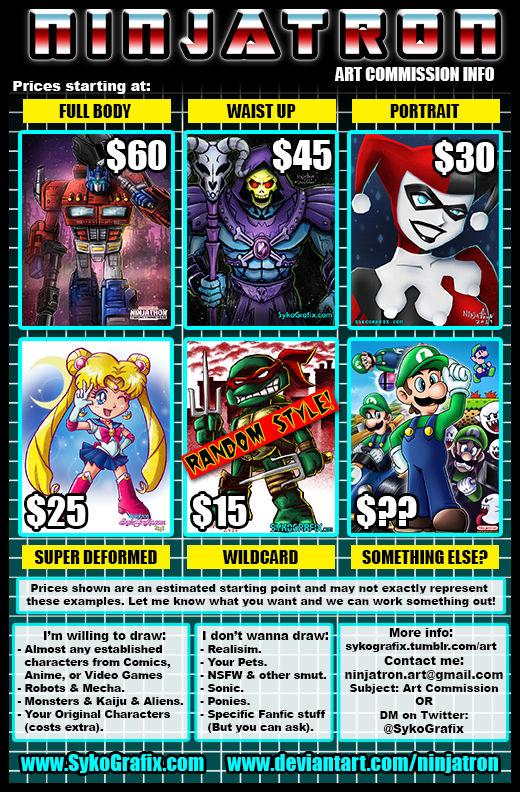 Ninjatron's Art Commission Info