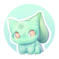 [DRAW THE POKEDEX] #001-Bulbasaur by GREATLORDHELIX