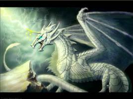 White  dragon by Zyraxea