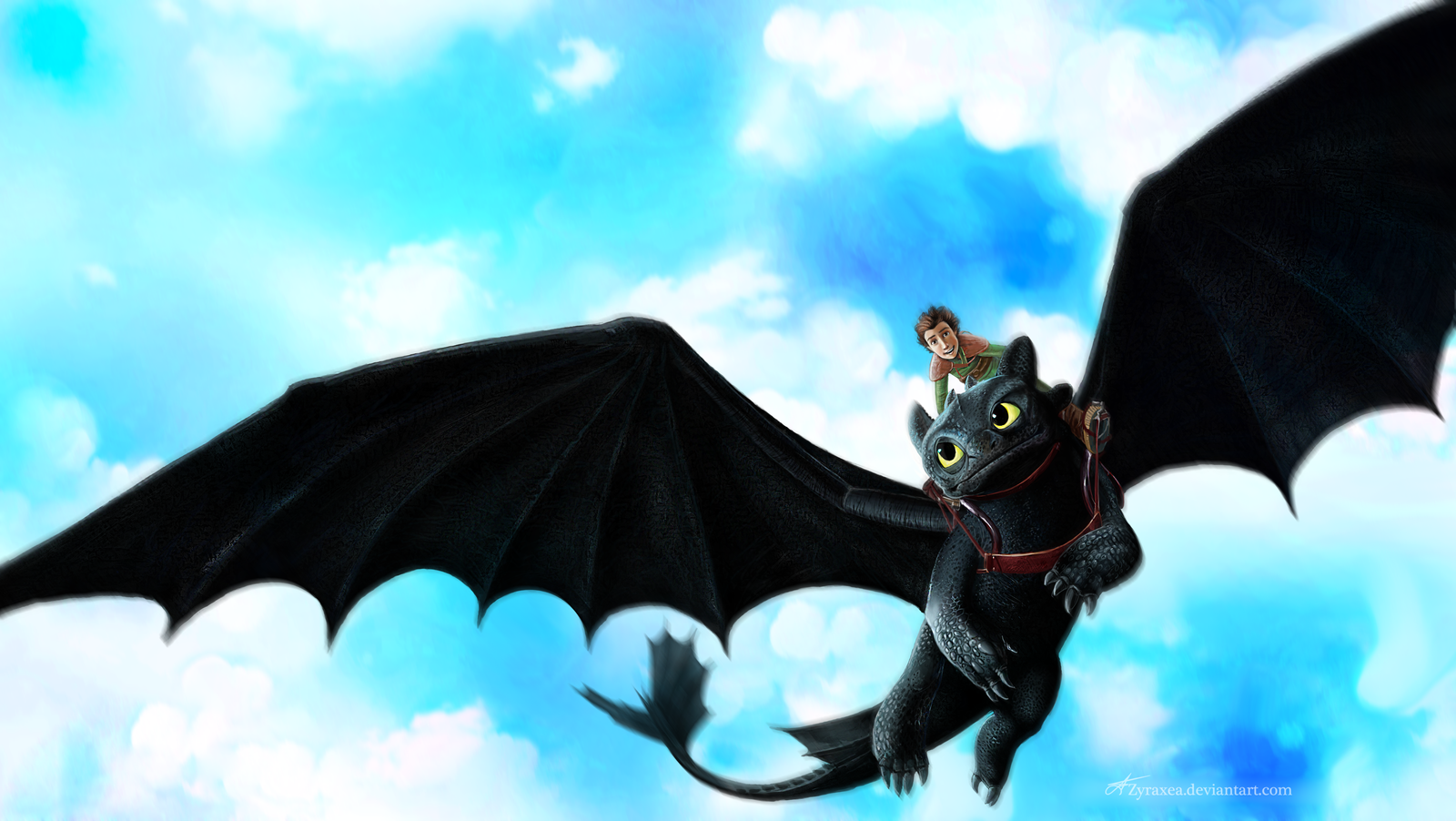 How to train your dragon by Zyraxea